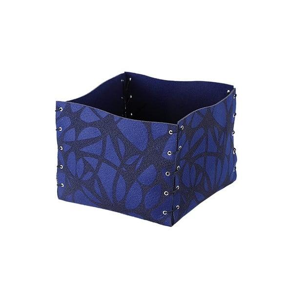 Filcowe pudełko, 25x20 cm, niebieskie