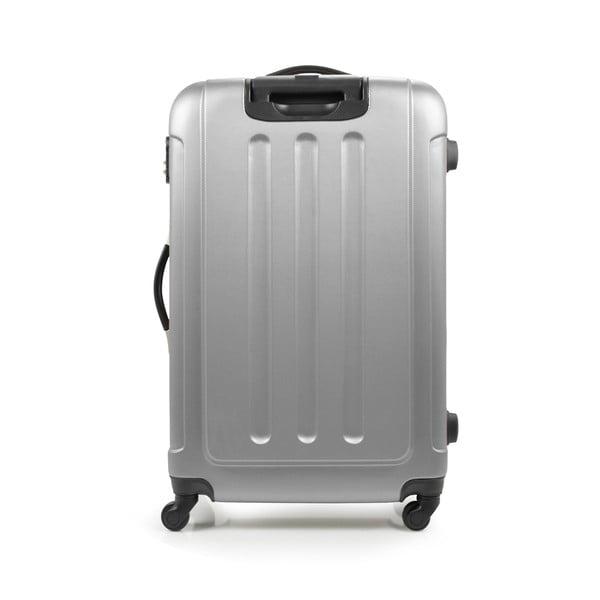 Zestaw 3 srebrnych walizek na kółkach Bluestar Lopez