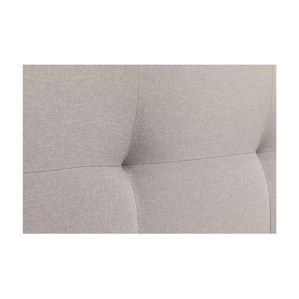 Szare łóżko 2-osobowe Chez Ro Skagen, 180x200 cm