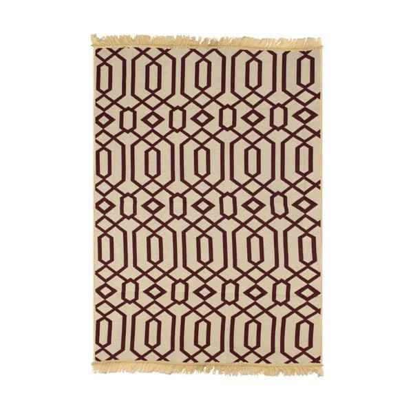 Czerwono-beżowy dywan Ya Rugs Kenar, 120x180cm