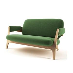 Zielona sofa 2-osobowa JELÍNEK Candy
