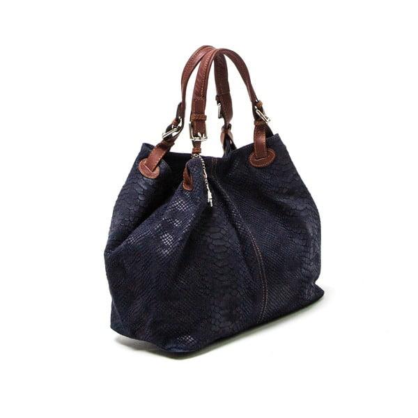 Skórzana torebka Luisa Vannini 841 Blu