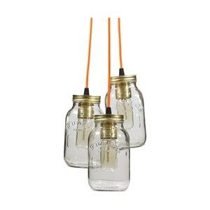 Lampa wisząca JamJar Lights, trzy pomarańczowe kable