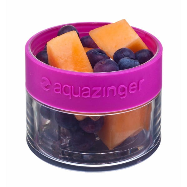 Butelka na wodę i owoce Aquazinger, szara