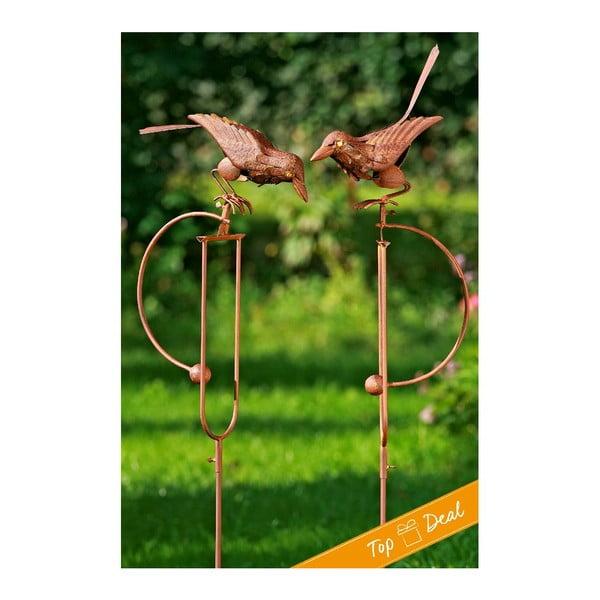 Zestaw 2 dekoracji ogrodowych Pendulum Bird
