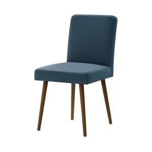 Niebieskie krzesło z ciemnobrązowymi nogami Ted Lapidus Maison Fragrance