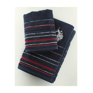 Komplet 2 ręczników Set US Polo Dark Blue, 50x90 i 70x140 cm
