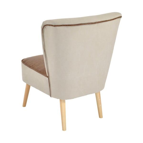 Fotel Beige/Brown, 60x65x79 cm
