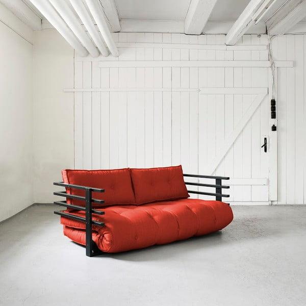 Sofa rozkładana dwuosobowa Karup Funk Black/Red