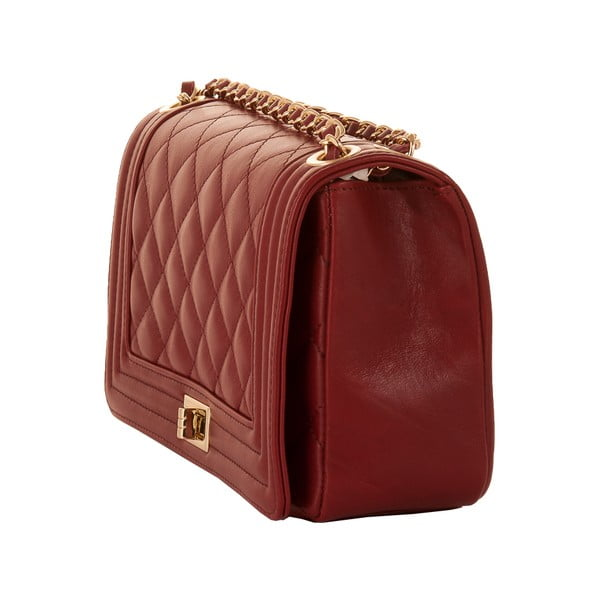 Skórzana torebka Andrea Cardone 2024 Ruby Red