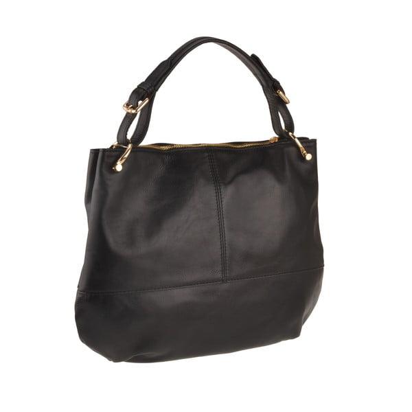 Skórzana torebka Auva, czarna
