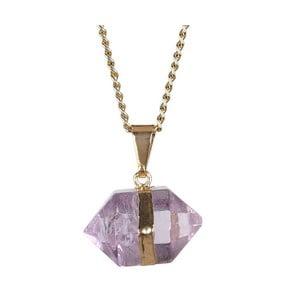 Naszyjnik z fioletową ametystową zawieszką Decadorn