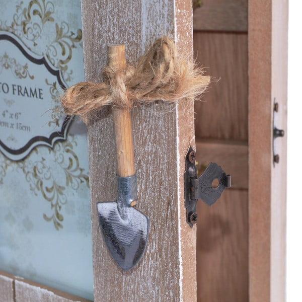 Drewniana szafeczka z ramką na zdjęcie Wooden