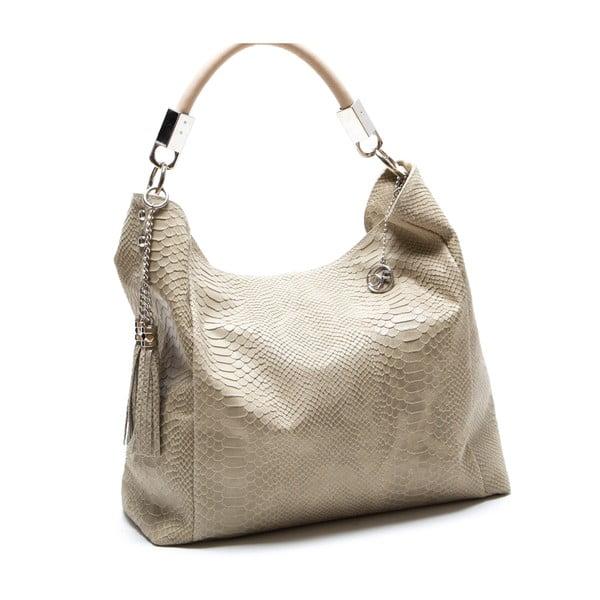 Skórzana torebka Foto, beżowa