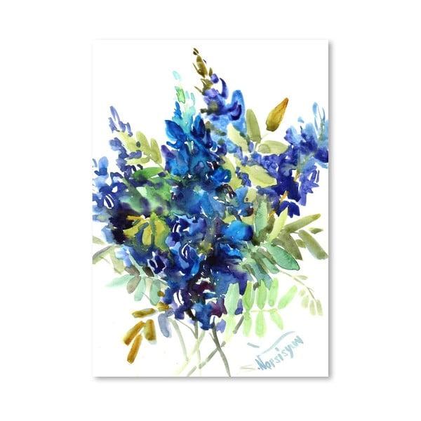 Plakat Blue Flowers (projekt Suren Nersisyan)