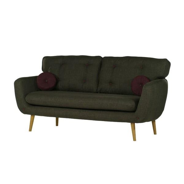 Zielona   sofa trzyosobowa Wintech Alva Sawana