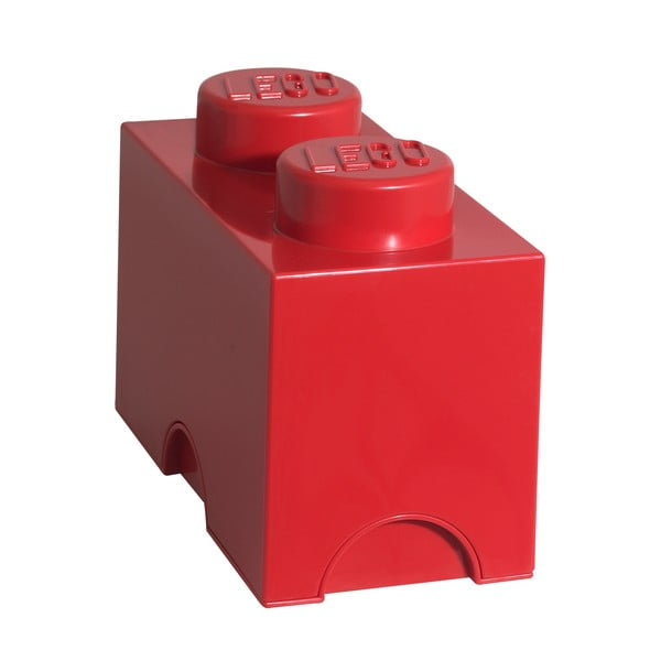 Czerwony pojemnik kwadratowy LEGO®