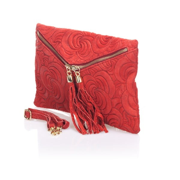 Czerwona kopertówka skórzana Lisa Minardi Silvia