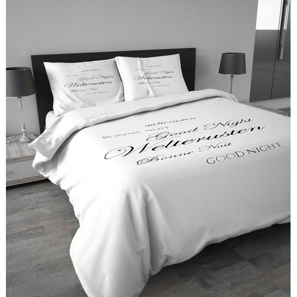Pościel flanelowa Good Night 140x200 cm, biała