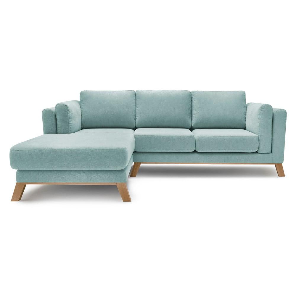 Jasnoniebieska sofa z szezlongiem po lewej stronie Bobochic Paris Seattle