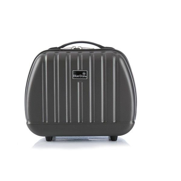 Szara walizka z bagażem podręcznym Bluestar