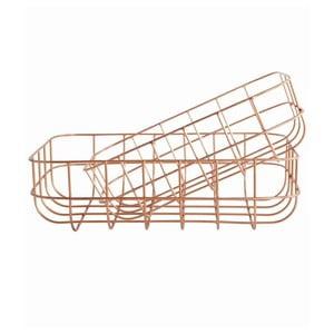Zestaw 2 koszyków Simply Copper S