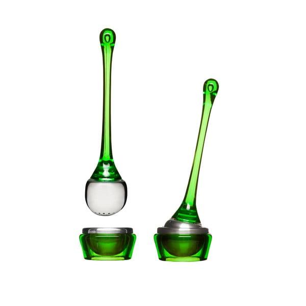 Zielone sitko na herbatę z miseczką Sagaform