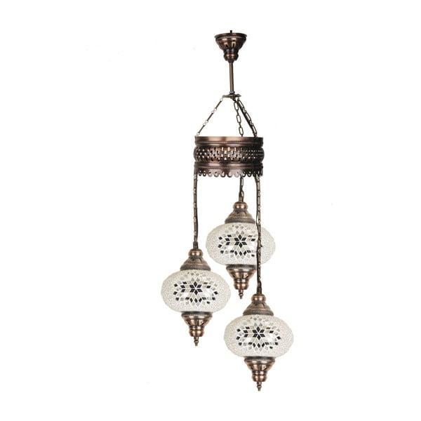 Szklana lampa wisząca Three VI, 17 cm