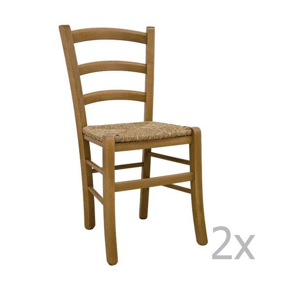Zestaw 2 krzeseł Castagnetti Lavagna, dębowe