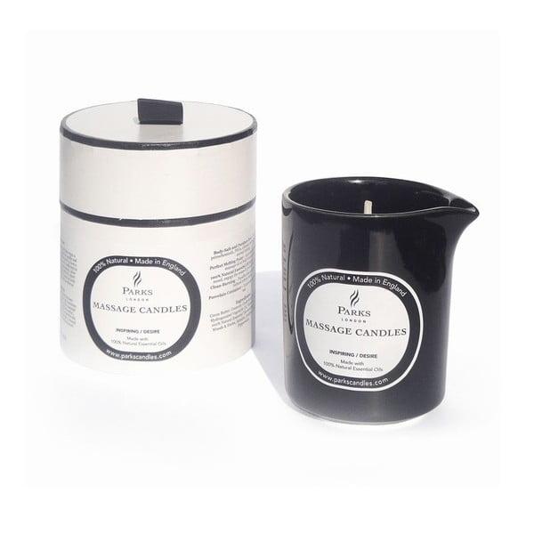 Świeczka do masażu o zapachu jaśminu, drewna i rozmarynu Parks Candles London Inspiring, 50 godz. palenia