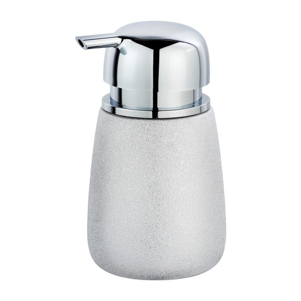 Ceramiczny dozownik do mydła w srebrnej barwie Wenko Glimma