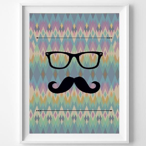Plakat Le Moustache, A3