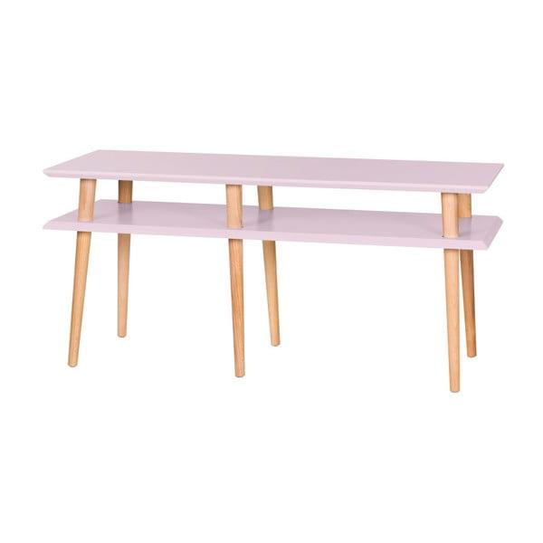 Różowy stolik Ragaba Mugo, dł. 119 cm