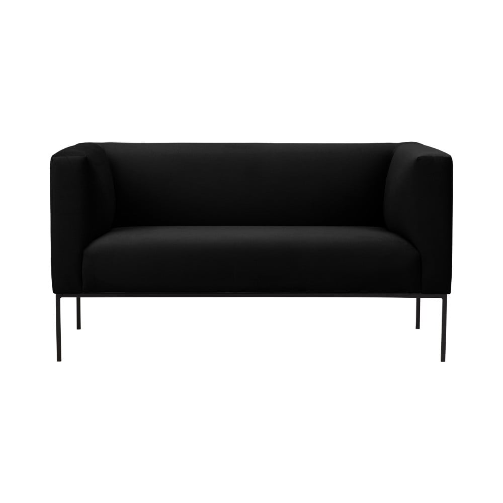 Czarna sofa Windsor & Co Sofas Neptune, 145 cm