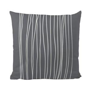 Poduszka Black Shake White Stripes in Grey, 50x50 cm
