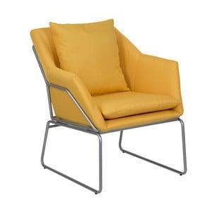 Żółty fotel Mauro Ferretti Confort