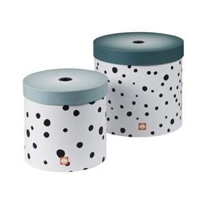Zestaw 2 pudełek Happy Dots, niebieski