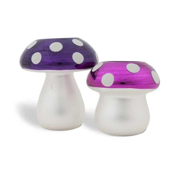 Zestaw 2 świeczników Mushrooms