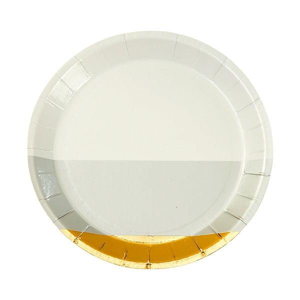 Zestaw 8 talerzy papierowych Talking Tables Metalic