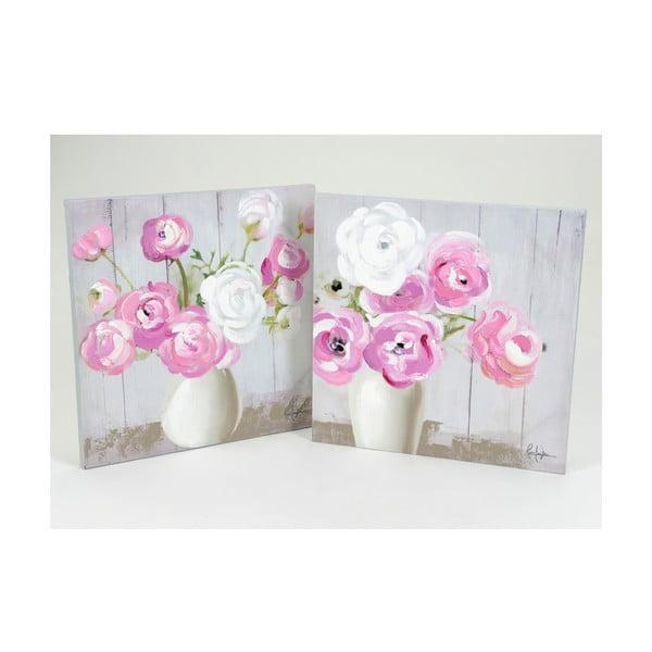 Obrazy Pastel Bouquet, 60x60 cm, 2 szt.