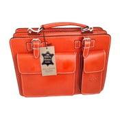 Pomarańczowa torba skórzana Chicca Borse Goie