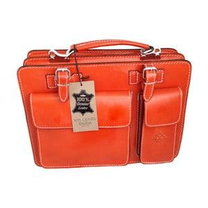 Pomarańczowa torba skórzana Goie