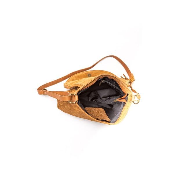 Skórzana torebka Carla Ferreri 815 Cognac