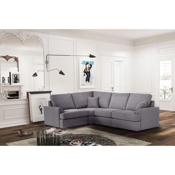 Sofa narożna Jalouse Maison Irina, lewy róg, szara