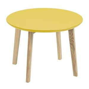 Żółty stolik Actona Molina, ⌀50 cm