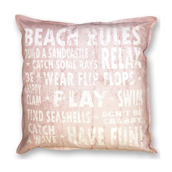 Poduszka Beach 45x45 cm, pudrowy róż