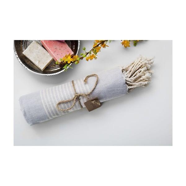 Ręcznik hamam Line Grey, 100x180 cm