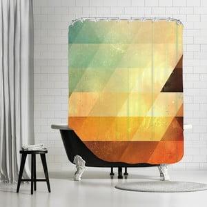 Zasłona prysznicowa Yellow Triangle, 180x180 cm