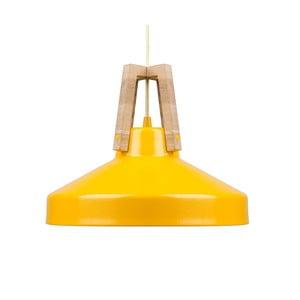 Żółta lampa wisząca Loft You Work, 33 cm