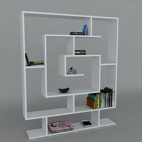 Biblioteczka Samasik White, 22x124,8x149,4 cm